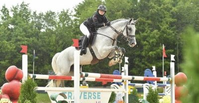 Hilco 2nd in the FEI 1.40m Open Jumper at Angelstone!