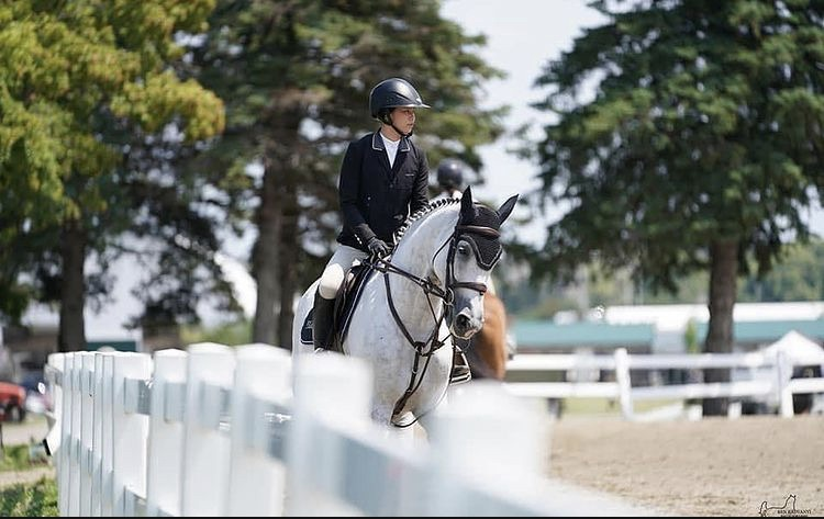 Coconut with a fantastic round in yesterday's $2500 1.40m Jr/Am Classic at Angelstone!
