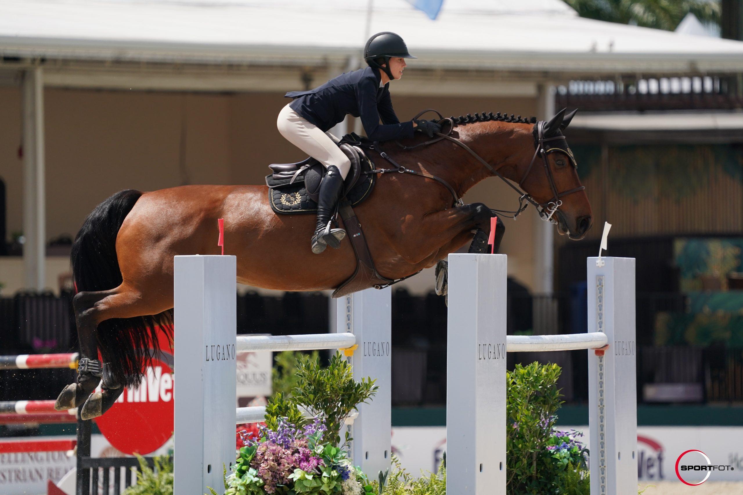 Massimo and Annabella Sanchez  8th 1.35m class