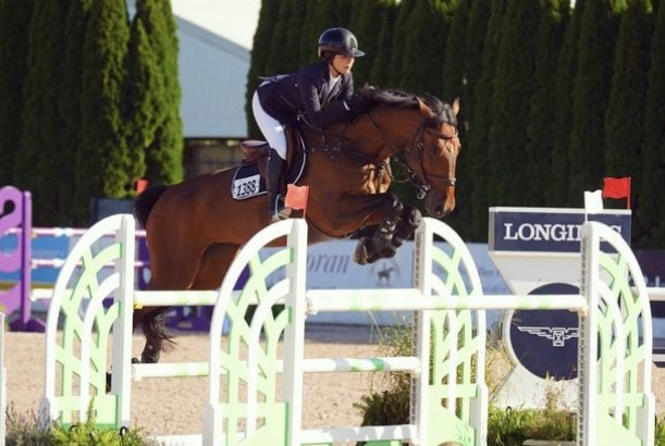 6th place for Hathina and Taylor Harris in the 1.30m AO Jumper Medium at the Hamptons